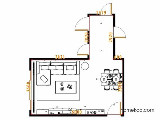 平面布置图柏俪兹系列客餐厅G13664