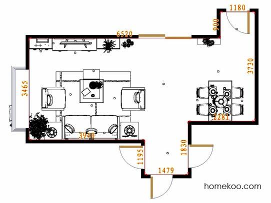 平面布置图贝斯特系列客餐厅G13667