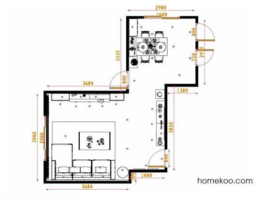 平面布置图乐维斯系列客餐厅G13672