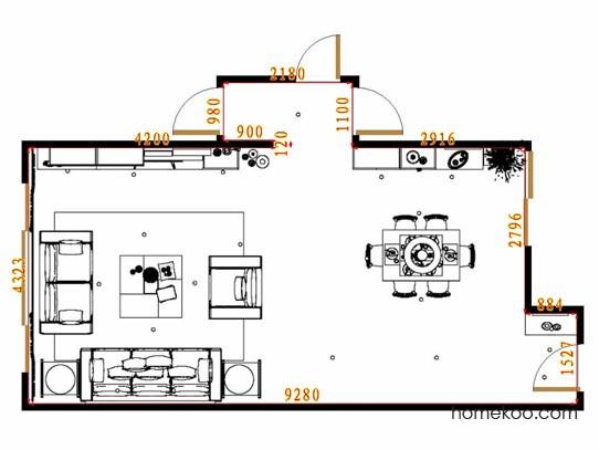 平面布置图柏俪兹系列客餐厅G13676