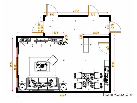 平面布置图格瑞丝系列客餐厅G13681