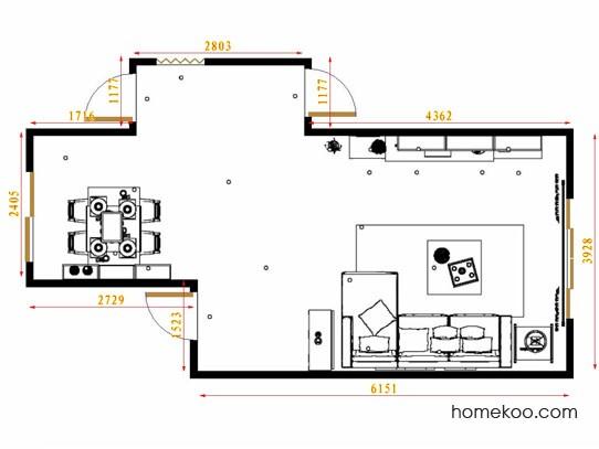 平面布置图斯玛特系列客餐厅G13691