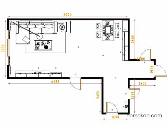 平面布置图乐维斯系列客餐厅G13694