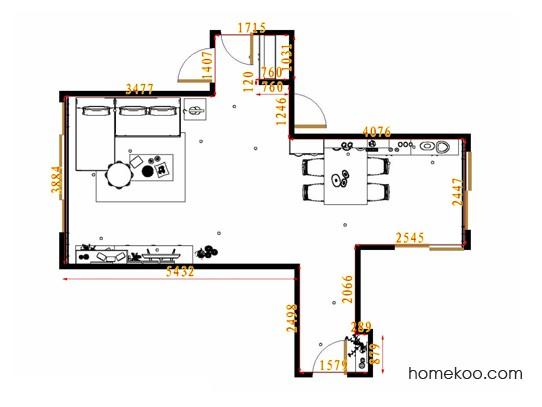 平面布置图格瑞丝系列客餐厅G13696