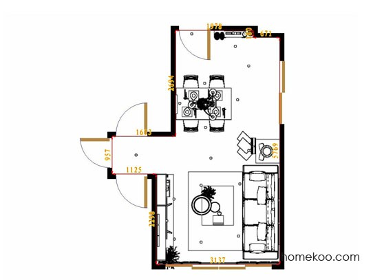 平面布置图贝斯特系列客餐厅G13697