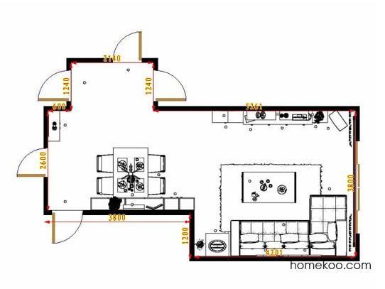 平面布置图贝斯特系列客餐厅G13703