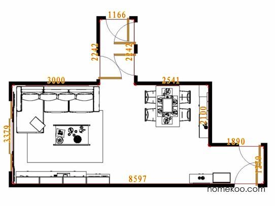平面布置图贝斯特系列客餐厅G13705