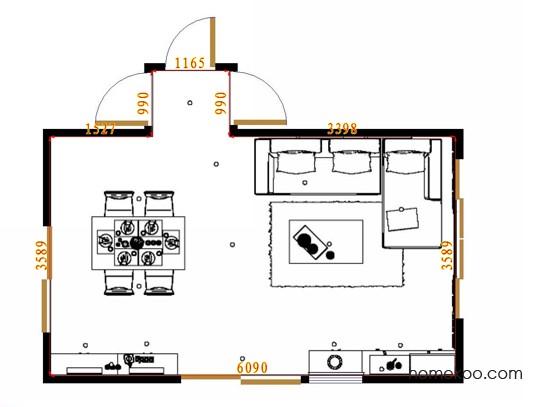 平面布置图德丽卡系列客餐厅G13709