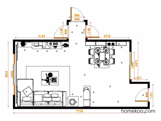 平面布置图乐维斯系列客餐厅G13718