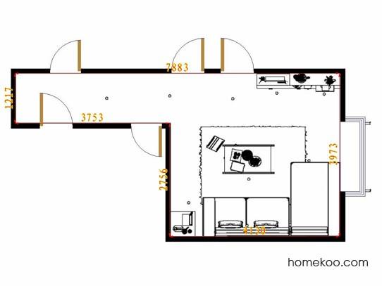 平面布置图柏俪兹系列客餐厅G13721
