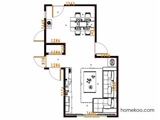 平面布置图乐维斯系列客餐厅G13727