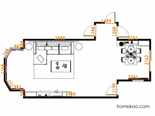 平面布置图柏俪兹系列客餐厅G13738