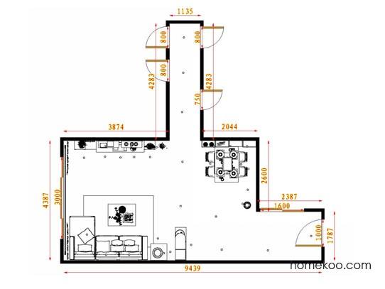 平面布置图格瑞丝系列客餐厅G13739