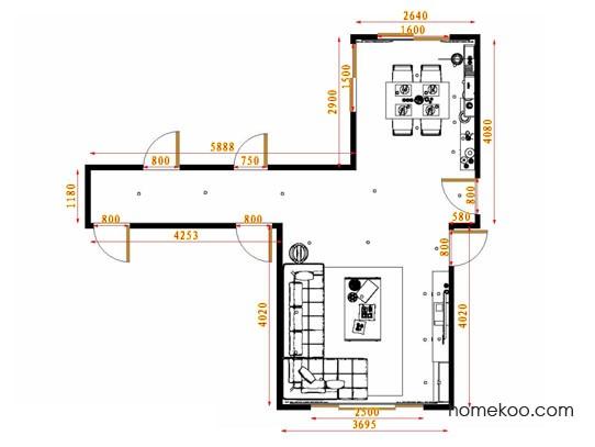 平面布置图乐维斯系列客餐厅G13740
