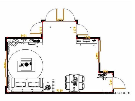 平面布置图斯玛特系列客餐厅G13758