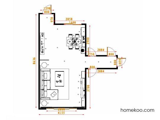 平面布置图贝斯特系列客餐厅G13799