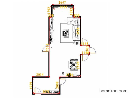 平面布置图德丽卡系列客餐厅G13813