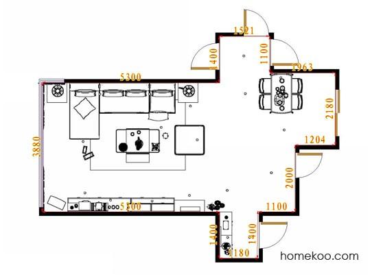 平面布置图斯玛特系列客餐厅G13816