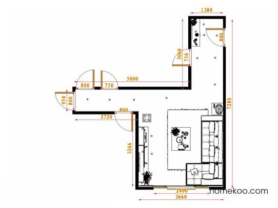 平面布置图贝斯特系列客餐厅G13819