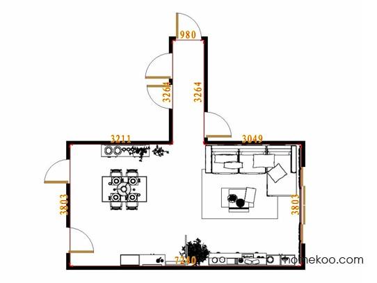 平面布置图乐维斯系列客餐厅G13825