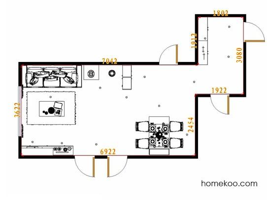 平面布置图贝斯特系列客餐厅G13831