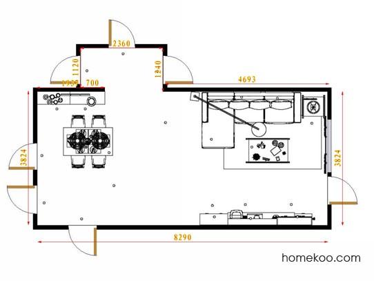平面布置图乐维斯系列客餐厅G13842