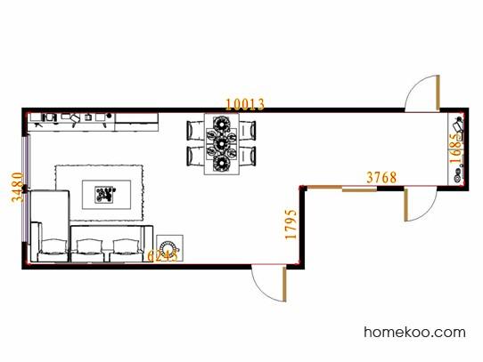 平面布置图柏俪兹系列客餐厅G13852