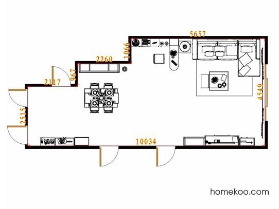 平面布置图斯玛特系列客餐厅G13870