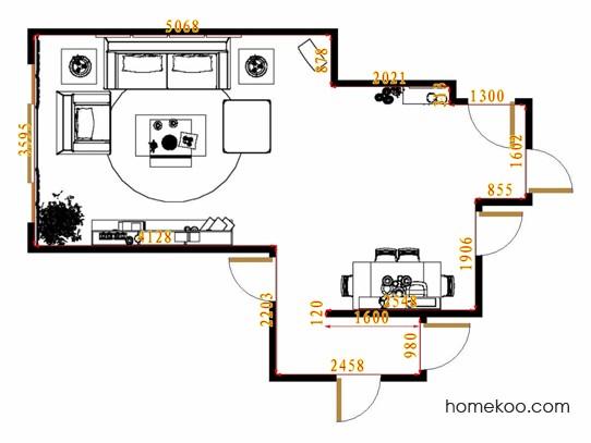 平面布置图格瑞丝系列客餐厅G13874
