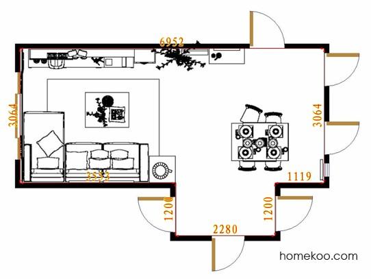 平面布置图格瑞丝系列客餐厅G13883