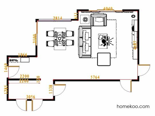 平面布置图贝斯特系列客餐厅G13884
