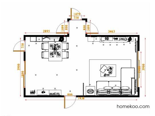 平面布置图斯玛特系列客餐厅G13889