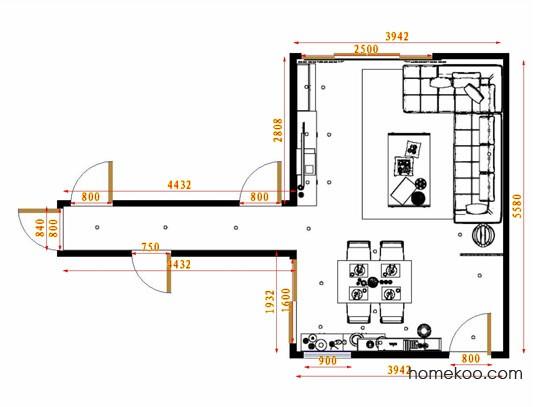 平面布置图格瑞丝系列客餐厅G13898