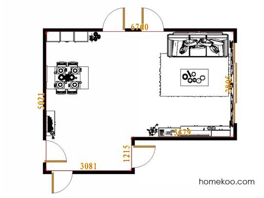 平面布置图格瑞丝系列客餐厅G13903