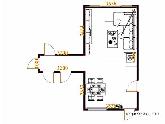 平面布置图格瑞丝系列客餐厅G13904