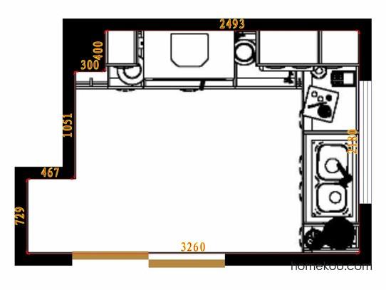 平面布置图乐维斯系列厨房F12868
