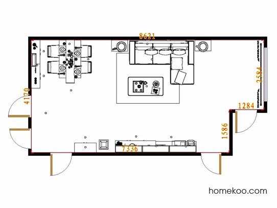 平面布置图斯玛特系列客餐厅G13943