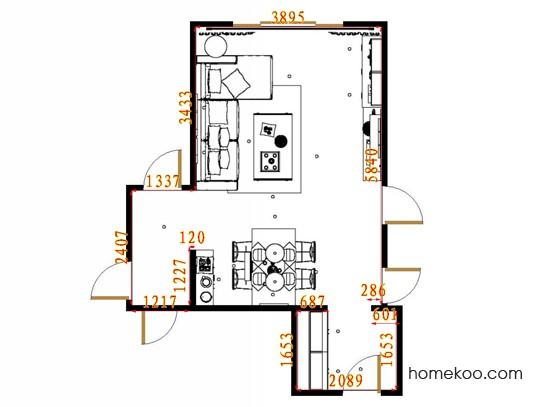 平面布置图乐维斯系列客餐厅G14074