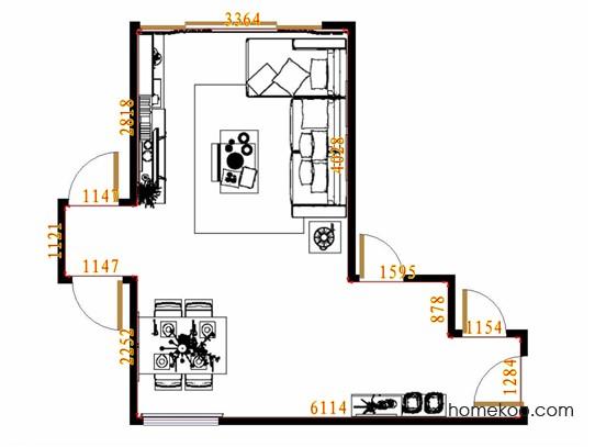 平面布置图德丽卡系列客餐厅G14080
