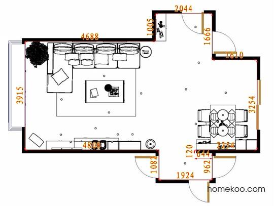 平面布置图贝斯特系列客餐厅G14091