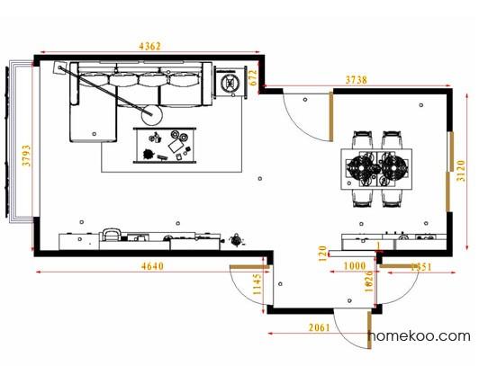 平面布置图乐维斯系列客餐厅G14098