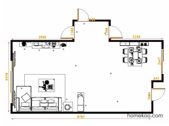 平面布置图德丽卡系列客餐厅G14099