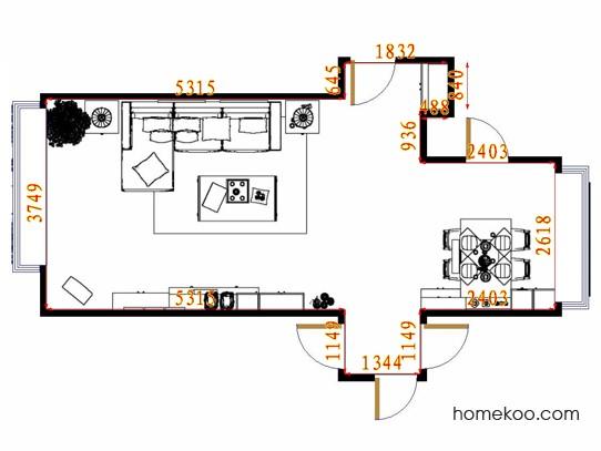 平面布置图格瑞丝系列客餐厅G14101