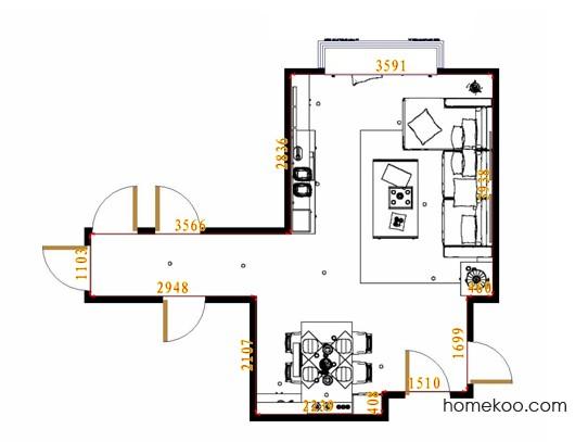 平面布置图贝斯特系列客餐厅G14112