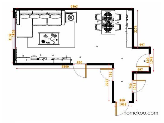 平面布置图乐维斯系列客餐厅G14117