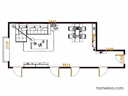 平面布置图斯玛特系列客餐厅G14118