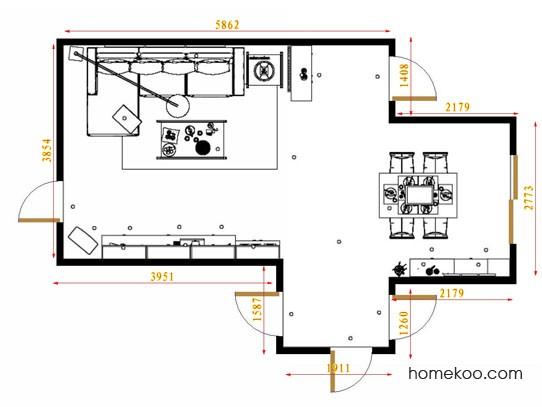 平面布置图斯玛特系列客餐厅G14125