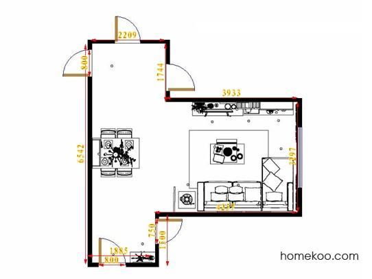 平面布置图德丽卡系列客餐厅G14129
