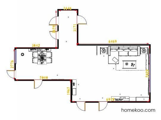 平面布置图格瑞丝系列客餐厅G14136