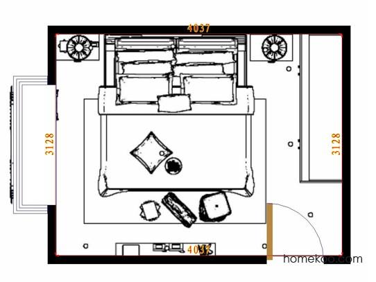 平面布置图柏俪兹系列卧房A13995